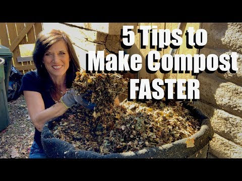 Making garden compost faster